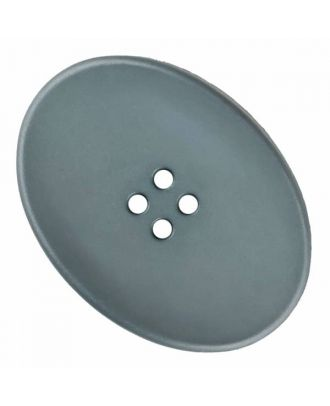 polyamide button oval with four  holes - Size: 38mm - Color: grey - Art.No. 375825