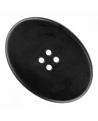 polyamide button oval with four  holes - Size: 38mm - Color: black - Art.No. 370888