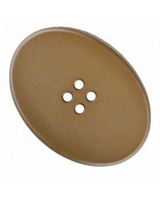 polyamide button oval with four  holes - Size: 38mm - Color: beige - Art.No. 375826