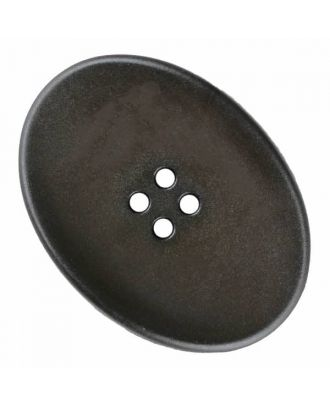polyamide button oval with four  holes - Size: 38mm - Color: brown - Art.No. 375828