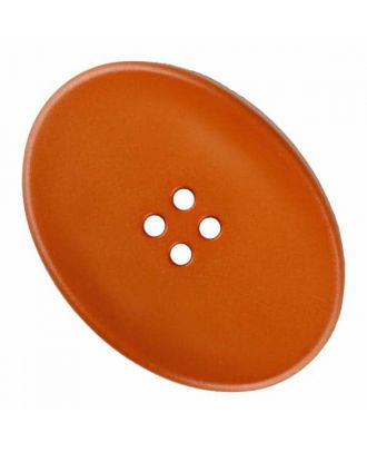 polyamide button oval with four  holes - Size: 38mm - Color: brown - Art.No. 375829