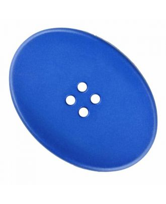 polyamide button oval with four  holes - Size: 38mm - Color: blue - Art.No. 375830