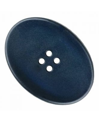 polyamide button oval with four  holes - Size: 38mm - Color: blue - Art.No. 375831