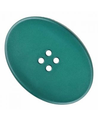 polyamide button oval with four  holes - Size: 23mm - Color: green - Art.No. 335834