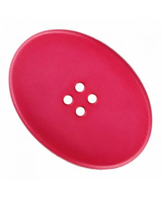 polyamide button oval with four  holes - Size: 23mm - Color: pink - Art.No. 335835