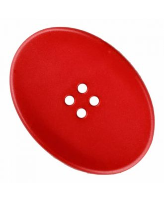polyamide button oval with four  holes - Size: 23mm - Color: red - Art.No. 335836