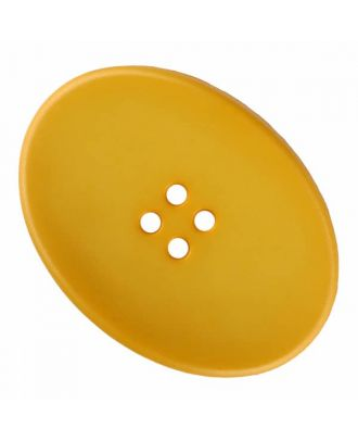 polyamide button oval with four  holes - Size: 38mm - Color: yellow - Art.No. 375837
