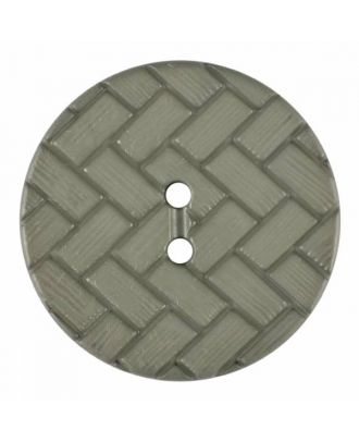 polyamide button with braid pattern and two holes - Size: 23mm - Color: grey - Art.No. 345851