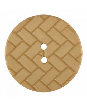 polyamide button with braid pattern and two holes - Size: 23mm - Color: beige - Art.No. 345853