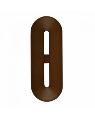 polyamide button toggle-shaped with 2 holes - Size: 25mm - Color: brown - Art.-Nr.: 346802