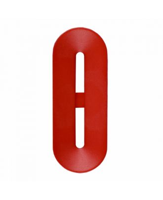 polyamide button toggle-shaped with 2 holes - Size: 40mm - Color: red - Art.-Nr.: 406809