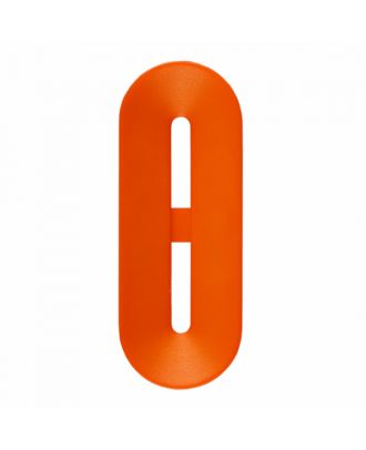 polyamide button toggle-shaped with 2 holes - Size: 25mm - Color: orange - Art.-Nr.: 346811