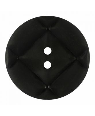 acrylic glass button round shape with matt surface and 2 holes - Size: 23mm - Color: black - Art.-Nr.: 341382