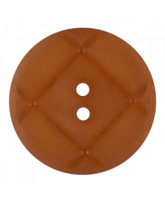 acrylic glass button round shape with matt surface and 2 holes - Size: 23mm - Color: brown - Art.-Nr.: 346848