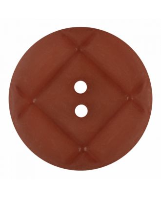 acrylic glass button round shape with matt surface and 2 holes - Size: 23mm - Color: brown - Art.-Nr.: 346849