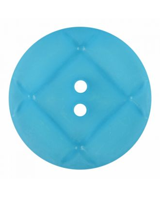 acrylic glass button round shape with matt surface and 2 holes - Size: 23mm - Color: blue - Art.-Nr.: 346850