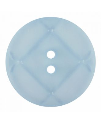 acrylic glass button round shape with matt surface and 2 holes - Size: 23mm - Color: blue - Art.-Nr.: 346851