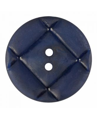 acrylic glass button round shape with matt surface and 2 holes - Size: 23mm - Color: navy blue - Art.-Nr.: 346852