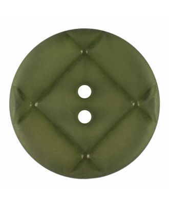 acrylic glass button round shape with matt surface and 2 holes - Size: 18mm - Color: light green - Art.-Nr.: 316830