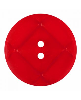 acrylic glass button round shape with matt surface and 2 holes - Size: 23mm - Color: red - Art.-Nr.: 346857