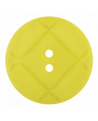 acrylic glass button round shape with matt surface and 2 holes - Size: 23mm - Color: yellow - Art.-Nr.: 346858