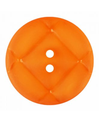 acrylic glass button round shape with matt surface and 2 holes - Size: 23mm - Color: orange - Art.-Nr.: 346859