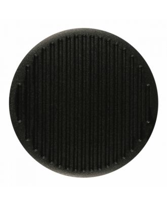 polyamide button round shape with fine structure on the surface and shank - Size: 25mm - Color: black - Art.-Nr.: 341375