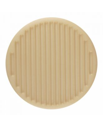 polyamide button round shape with fine structure on the surface and shank - Size: 25mm - Color: beige - Art.-Nr.: 346812