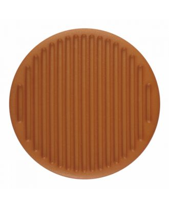 polyamide button round shape with fine structure on the surface and shank - Size: 25mm - Color: brown - Art.-Nr.: 346813