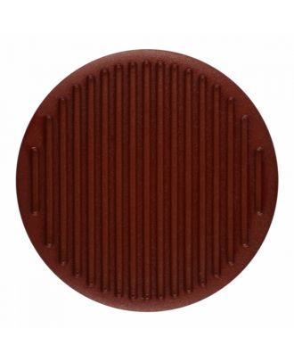 polyamide button round shape with fine structure on the surface and shank - Size: 25mm - Color: brown - Art.-Nr.: 346814