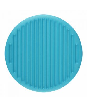 polyamide button round shape with fine structure on the surface and shank - Size: 20mm - Color: blue - Art.-Nr.: 316804