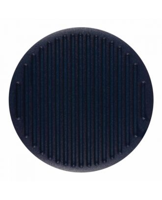 polyamide button round shape with fine structure on the surface and shank - Size: 25mm - Color: navy blue - Art.-Nr.: 346817
