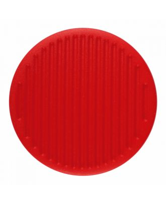 polyamide button round shape with fine structure on the surface and shank - Size: 25mm - Color: red - Art.-Nr.: 346822