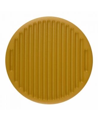 polyamide button round shape with fine structure on the surface and shank - Size: 25mm - Color: yellow - Art.-Nr.: 346823