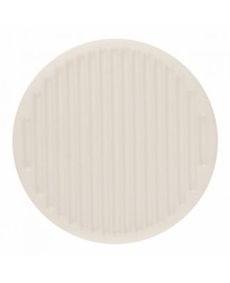 polyamide button round shape with fine structure on the surface and shank - Size: 25mm - Color: pure white - Art.-Nr.: 341374