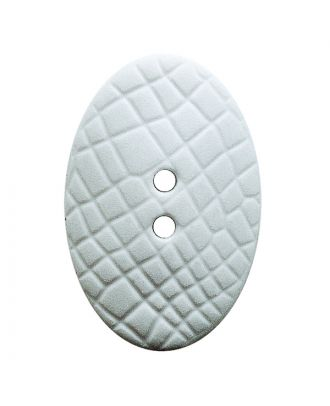 "polyamide button oval-shaped ""Vintage Look"" with fine structure and 2 holes - Size: 25mm - Color: weiß - Art.No.: 341385"