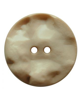 polyamide button round shape with hilly surface and 2 holes - Size: 25mm - Color: beige - Art.No.: 347812