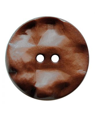 polyamide button round shape with hilly surface and 2 holes - Size: 25mm - Color: braun - Art.No.: 347814