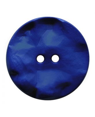 polyamide button round shape with hilly surface and 2 holes - Size: 30mm - Color: blau - Art.No.: 387815