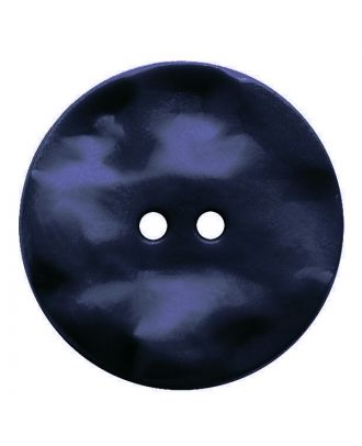 polyamide button round shape with hilly surface and 2 holes - Size: 30mm - Color: dunkelblau - Art.No.: 387816