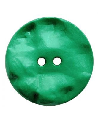 polyamide button round shape with hilly surface and 2 holes - Size: 30mm - Color: grün - Art.No.: 387817