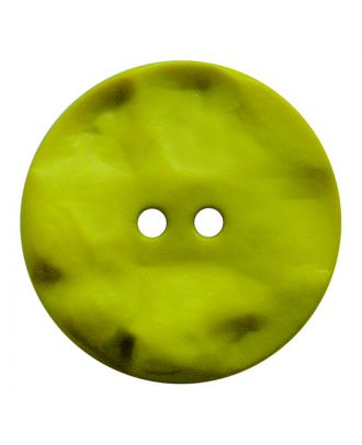 polyamide button round shape with hilly surface and 2 holes - Size: 25mm - Color: senfgrün - Art.No.: 347819