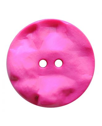 polyamide button round shape with hilly surface and 2 holes - Size: 30mm - Color: pink - Art.No.: 387820