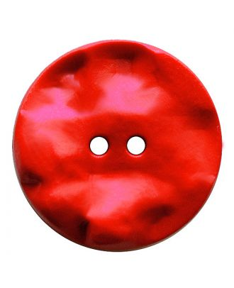 polyamide button round shape with hilly surface and 2 holes - Size: 30mm - Color: rot - Art.No.: 387821