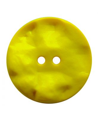 polyamide button round shape with hilly surface and 2 holes - Size: 30mm - Color: gelb - Art.No.: 387822