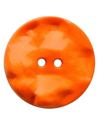 polyamide button round shape with hilly surface and 2 holes - Size: 25mm - Color: orange - Art.No.: 347823