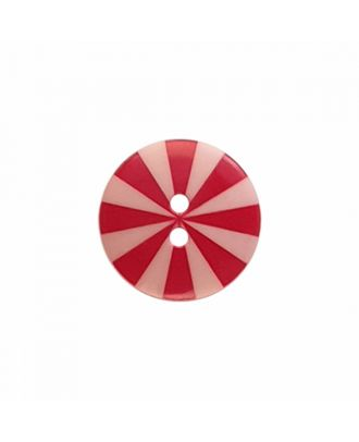 "Kaffe Fassett Button ""Radiate"", polyamide round shape 2 holes - Size: 15mm - Color: pink/red - Art.-Nr.: 261399"