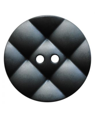 polyamide button round with pillow-shaped surface and 2 holes - Size: 23mm - Color: grau - Art.No.: 347836