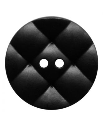 polyamide button round with pillow-shaped surface and 2 holes - Size: 28mm - Color: schwarz - Art.No.: 370924