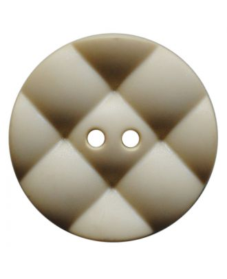 polyamide button round with pillow-shaped surface and 2 holes - Size: 28mm - Color: hellbeige - Art.No.: 377813